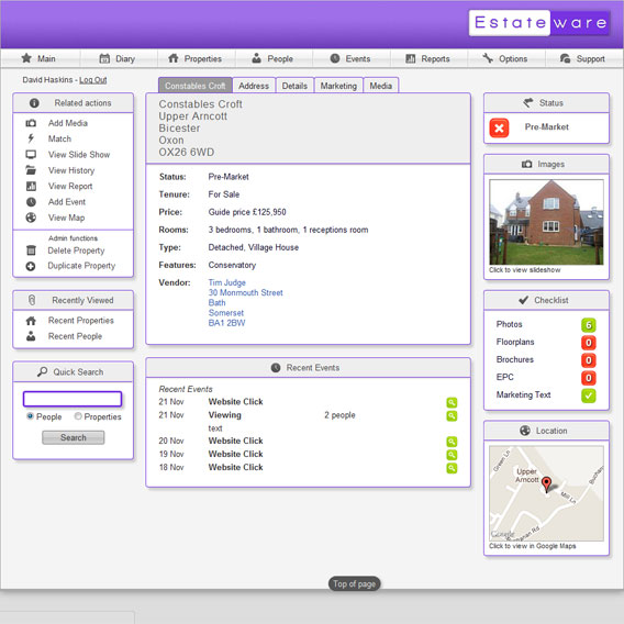 Property Homepage Screenshot