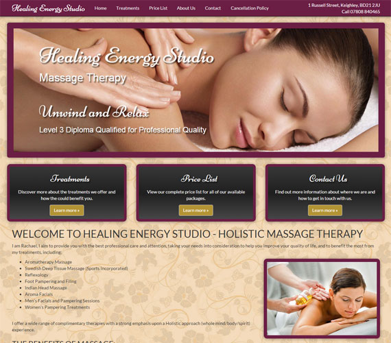 Healing Enery Studio Website Screenshot