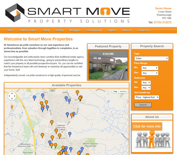 Smart Move Website Screenshot